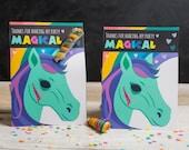 ZOMBIE Unicorn Printable Party Favors Twisty Rainbow Lollipop Creepy Cute Halloween or Birthday Party DIY print at home rainbow funny