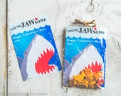 INSTANT DOWNLOAD Printable Classroom shark valentines cards goldfish valentine's day shark week great white sharks funny boys valentine jaws