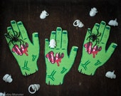 Halloween Spider Ring printable Zombie hand non candy halloween ideas skull ring toys gross funny severed hand DIY craft treat party favor