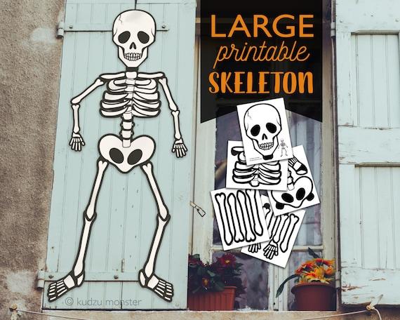 image about Skeleton Printable identify Significant Multi Site Printable Skeleton halloween Doorway or window