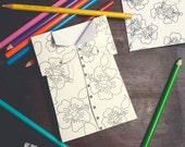 INSTANT DOWNLOAD Father's Day Card Hawaiian Flower Shirt Funny Coloring Page Card DIY kids classroom Craft Fathers day activity printable