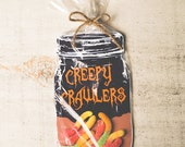 INSTANT DOWNLOAD bug candy gift DIY mason jar great for gummy worms, beetle toys, spider, candy, rings classroom trick or treat