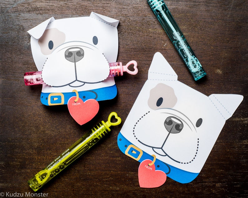 Puppy Classroom Candy or treat Holder valentines cute dog image 0