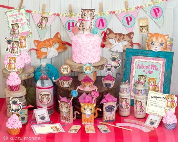 Adopt A Cat Party Favor