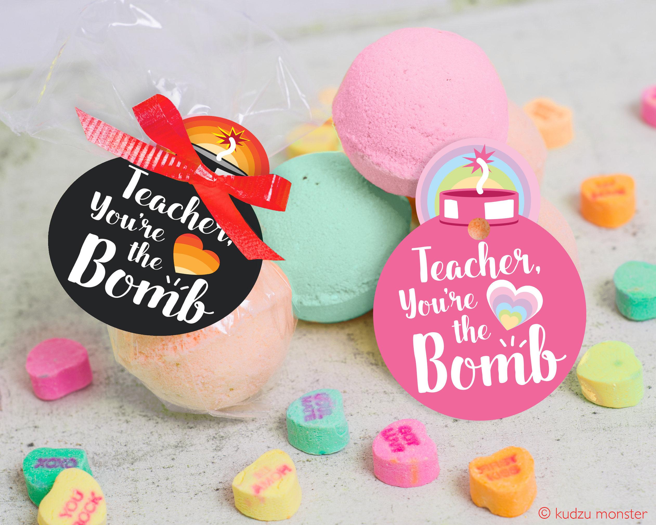 printable Teacher Appreciation Week bath bomb gift tag INSTANT | Etsy