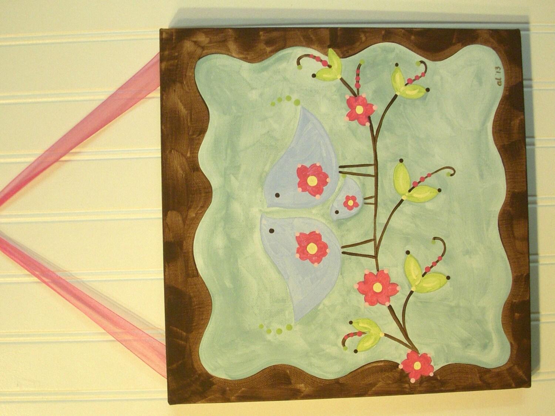 baby nursery wall art..girl kids room decor..original canvas | Etsy