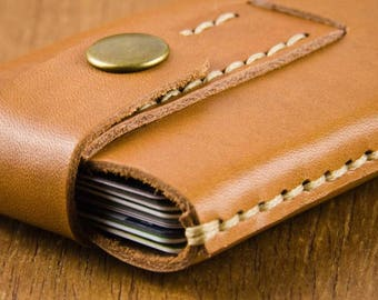 Minimalist Credit Card Case - Minimalist Leather Wallet - Cardholder - Thin Card Wallet - Mens Wallet - Leather Wallet -  FREE SHIPPING
