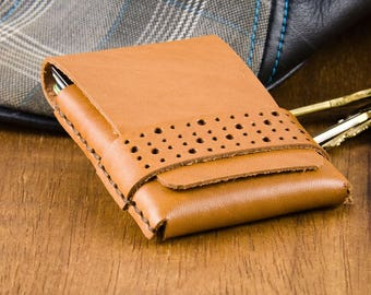 Slim Leather Wallet - Minimalist Wallet - Thin Card Wallet - Mens Wallet - Leather Wallet - Card Case Wallet - Gift for Him -  FREE SHIPPING