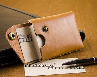 Business Card Case Leather - Cardholder - Leather Card Case Men - Graduation Gift Leather - Leather Card Holder Men  -  FREE SHIPPING