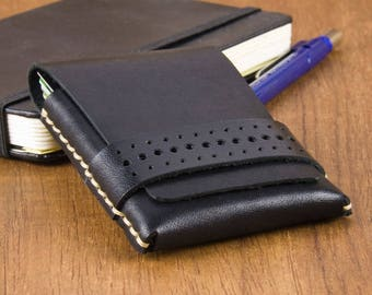 Leather Wallet - Mens Wallet - Front Pocket Wallet - Mens Slim Wallet - Minimal Wallet - Thin Wallet for Him - Gift for Dad -  FREE SHIPPING