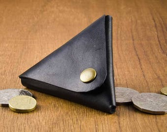 Leather Coin Pouch - Leather Coin Purse - Leather Change Wallet - Coin Holder - Coin Purse - Change Purse - Coin Wallet - FREE SHIPPING