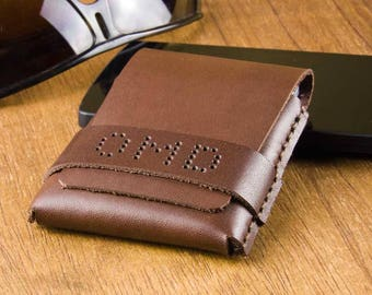 Personalized Leather Wallet - Mens Wallet - Minimalist Wallet - Slim Wallet for Him - Mens Leather Wallet - Gift for Him -  FREE SHIPPING