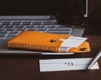 Business Card Case Leather - Cardholder - Leather Card Case Men - Graduation Gift Leather - Leather Card Holder Men