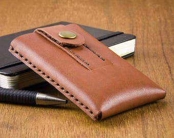 Slim Leather Card Case - Mens Wallet - Leather Card holder - Slim Leather Wallet - Slim Mens Wallet  - Leather Wallet - FREE SHIPPING