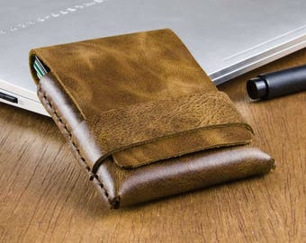 Mens Wallet - Minimalist Wallet - Thin Leather Wallet - Slim Wallet for Him - Mens Leather Wallet - Gift for Him -  FREE SHIPPING