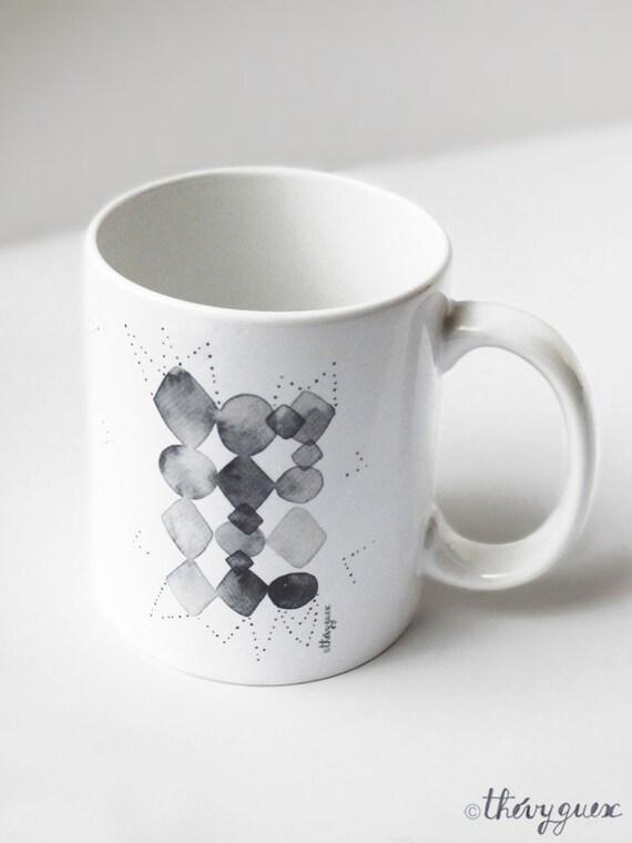 tasse g om trique f te des p res unisexe mug illustr mug. Black Bedroom Furniture Sets. Home Design Ideas
