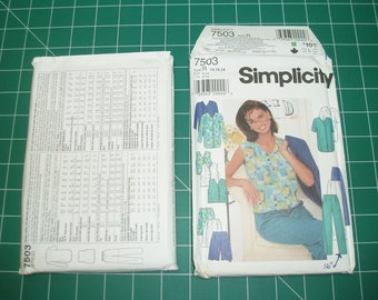 Simplicity 7503 - Misses Jacket, Top, Pants or Shorts pattern - Size K, R or Z