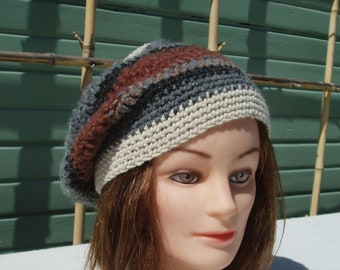 Scrappy Hat - Hand Crochet - Adult Slouch Style Hat - READY TO SHIP