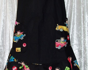 betty boop frilly  apron - Two different designs