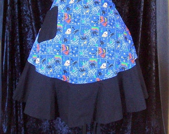 Day of the Dead - Halloween  apron - cocktail - Samhain - READY TO SHIP