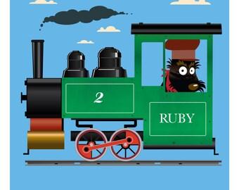 Ruby train Digital PRINT
