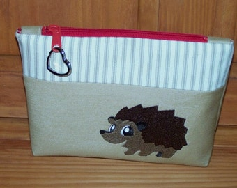 Hedge Hog Zippered Pouch