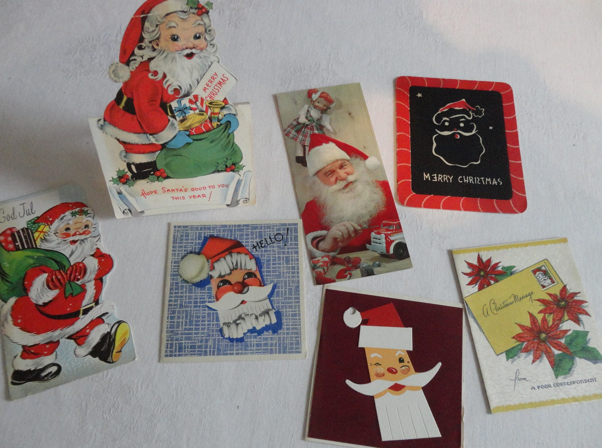 Not your typical santa in vintage christmas lot no 1188 one is an not your typical santa in vintage christmas lot no 1188 one is an ornament one stand up lot of 7 god jul is danish for merry christmas m4hsunfo