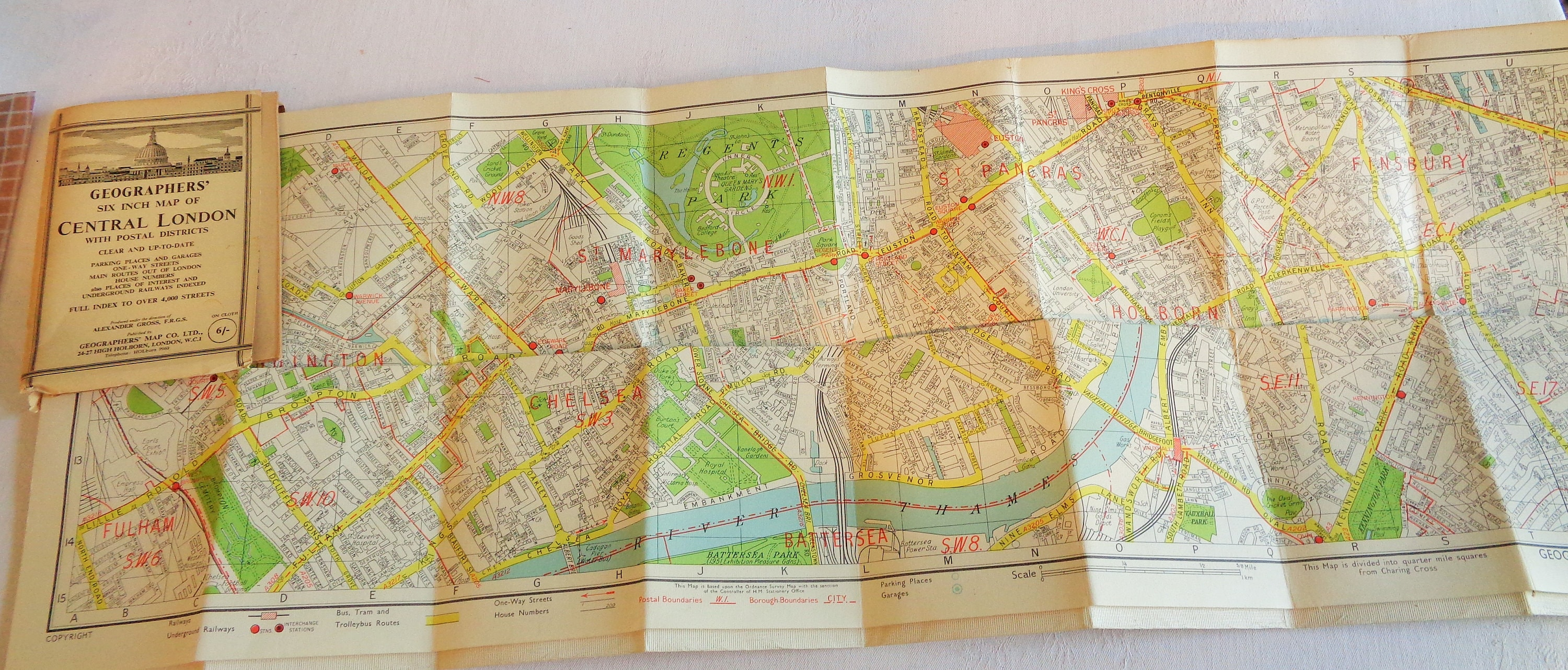 Central London Districts Map.Map Of Central London Circa 1940s 1950s Geographers Six Inch