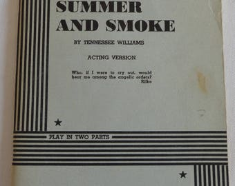 Dramatists Play Service 1950 Copy of Tennessee Williams Play Summer and Smoke