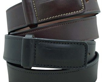 English Bridle Leather Mechanics Belt 1 1/2'' width No Scratch buckle