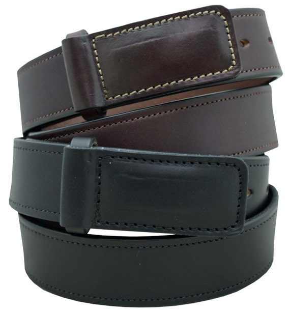 1 1//4 Stitched Leather Belt 100/% Full Grain Leather Heavy Duty Work Belt