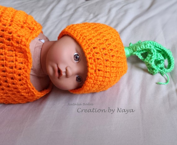 Karotte Baby Kokon Geburt Ankündigung Foto Stütze Häkeln Etsy