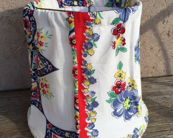 Handmade Lampshade from Vintage Handkerchiefs  by Stephanie Barnes-Barneche Design