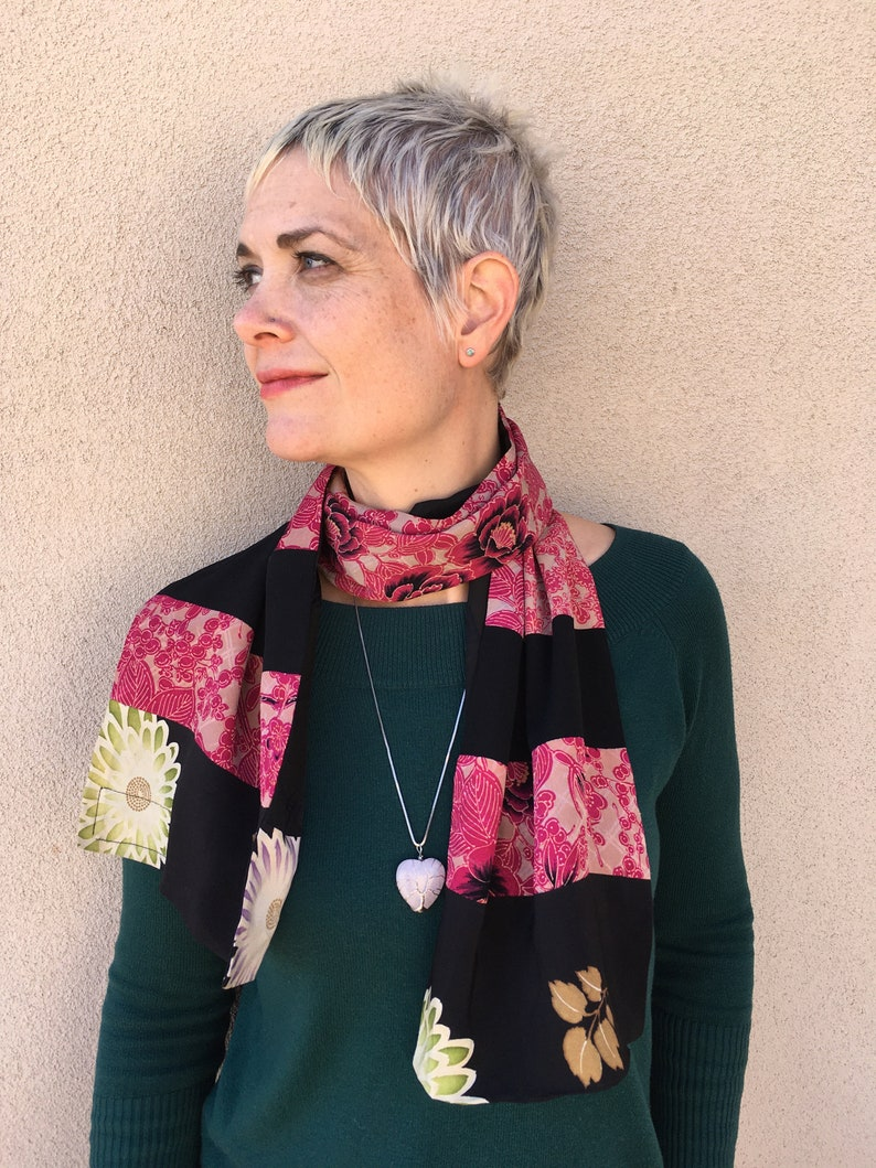 Reversible Vintage Kimono Scarves by Barneche-Stephanie Barnes image 0