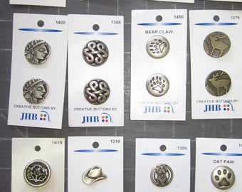 PEACE Silver Shank Button 1-1//4 in JHB Buttons//Charms