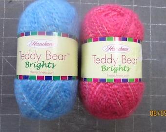Herrschners Teddy Bear Brights Yarn Brushed Soft 3-Light Acrylic Polyester 1.75