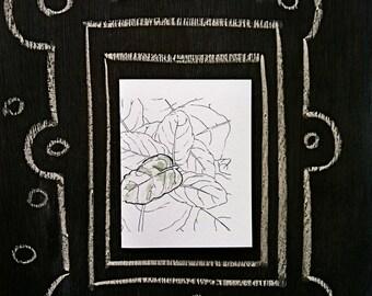 Wraparound Modern Leaf--Watercolor Notecards (smaller)