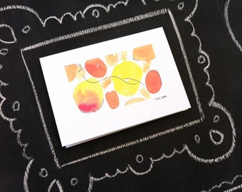 Happy Circles--Limited Edition Watercolor Notecards