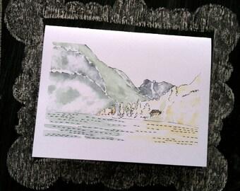 The Little Swiss Villa--Watercolor Notecards (smaller)