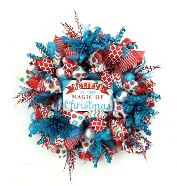 image 0 - Red And Turquoise Christmas Decorations