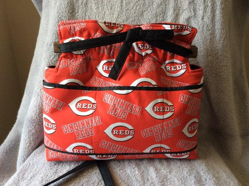 Cincinnati Reds reversible handbag purse bag cotton quilted