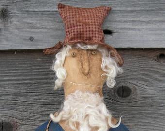 Extreme Primitive Americana Uncle Sam Doll Pattern, Primitive Doll Pattern, Folk Art Doll Pattern, Uncle Sam Americana Bust Doll