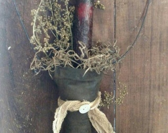 "6"" Drip Flameless Candle, Primitive, Rustic Weddings, Favors, FREE Shipping, Craft Supplies, DIY, PRIMITIVE Doll Supplies"