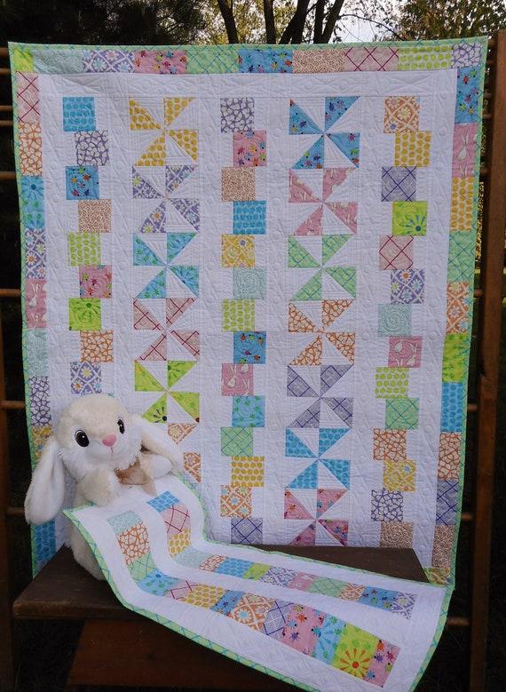 Modern Baby Quilt Pattern Tumbles Twirls Layer Cake Baby Etsy