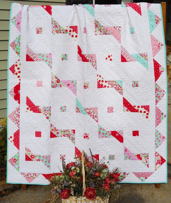 Modern Quilt Pattern A Banner Day Jelly Roll Pattern Hard Etsy