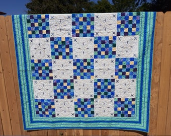 Full Size Quilt Handmade Patchwork Idaho Hand-Embroidery 75 x 75 inches