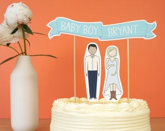 Personalized Baby Shower Cake Topper | Gender Reveal | Baby Shower Decoration | Custom Baby Shower Cake Topper | Custom Baby Shower Decor