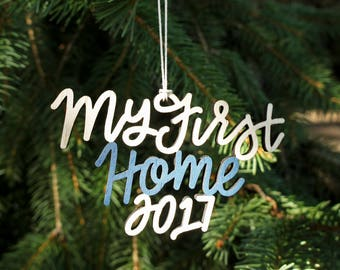 My First Home 2017 Christmas Ornament - Choose your color! | Christmas Ornament | Housewarming Gift | Christmas Gift | First House