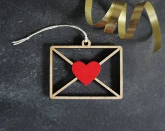 Christmas Ornament Christmas Gift Choose your color! Newtown Heart Christmas Ornament Newtown Heart Housewarming Gift Newtown CT