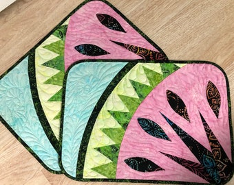 Watermelon Placemats, Judy Niemeyer Design, Digital Quilting File, Quiltworx